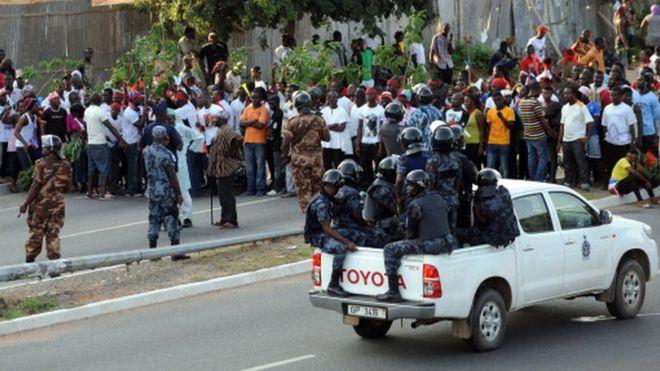 Protestation contre les prophéties d'un pasteur au Ghana