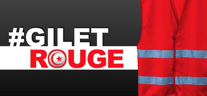 Après les Egyptiens, des gilets rouges tunisiens s'inspirent des gilets jaunes français