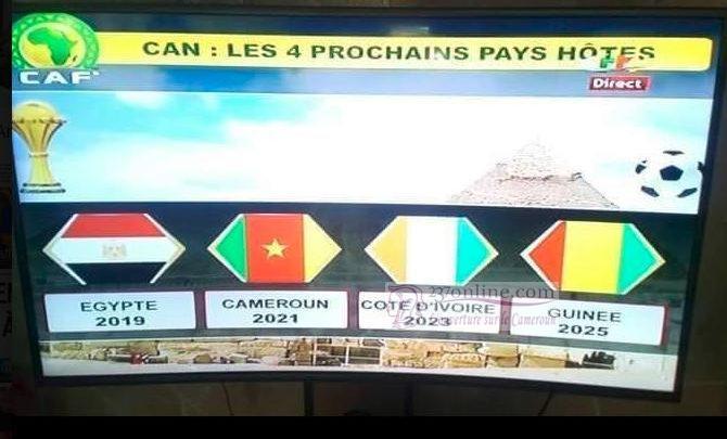 CAF: La Can 2019 sera en Egypte et 2021 au Cameroun