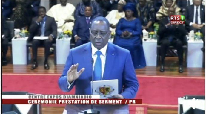 Macky Sall : « Devant Dieu et devant la Nation sénégalaise, je jure de remplir fidèlement la charge de président de la République »