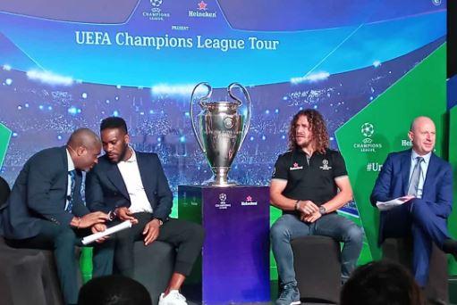 Afrique Tournée du trophée de l'UEFA Champions League : Lagos abrite l'évènement