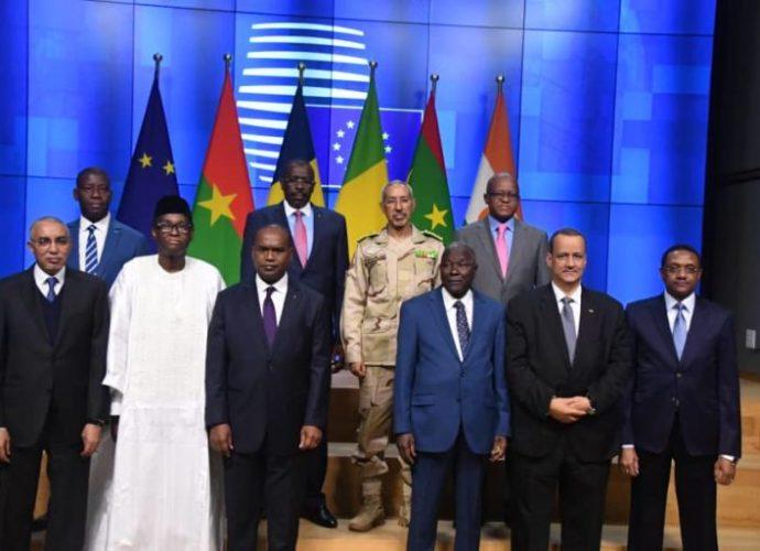 Réunion des ministres des Affaires étrangères et de la Défense de l'UE et du G5 Sahel