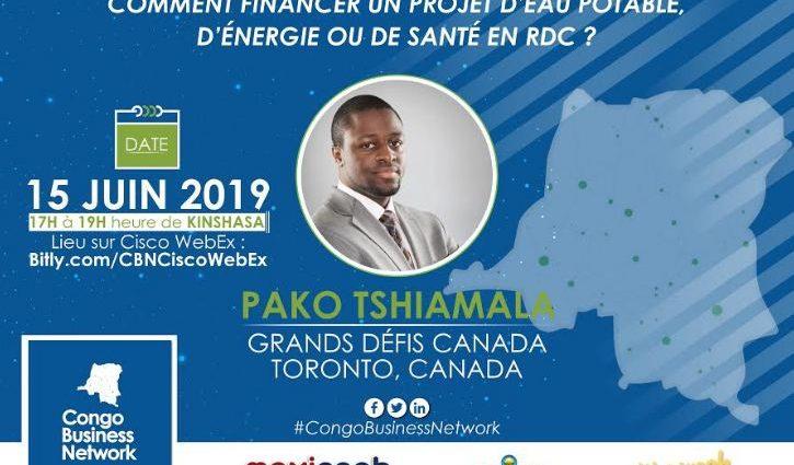 Congo Business Network organise une session sur le financement des projets d'eau potable, d'énergie ou de santé en RDC le 15 juin 2019