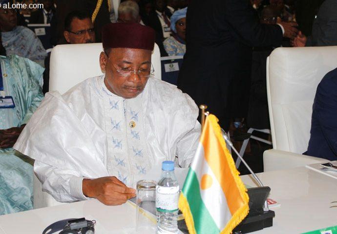 Le Président nigérien Mahamadou Issoufou en visite d'amitié et de travail au Togo