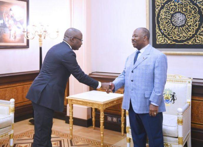 Le Président Ali Bongo Ondimba reçoit l'Ambassadeur de Grande Bretagne au Gabon et le PCNLCEI