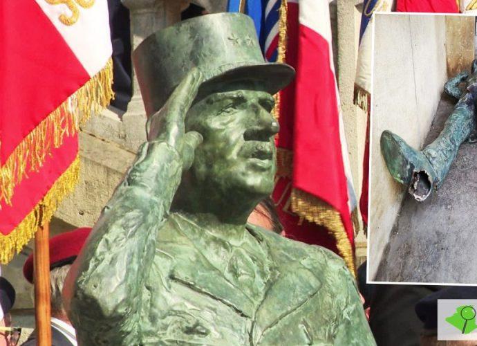 France : Une statue de Charles de Gaulle arrachée par des supporteurs algériens