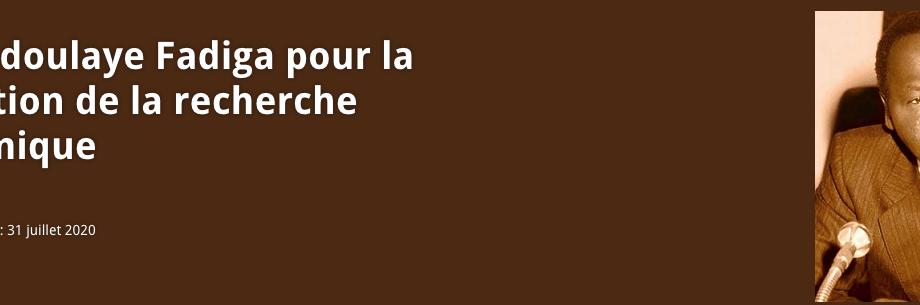 PRIX ABDOULAYE FADIGA POUR LA PROMOTION DE LA RECHERCHE ECONOMIQUE