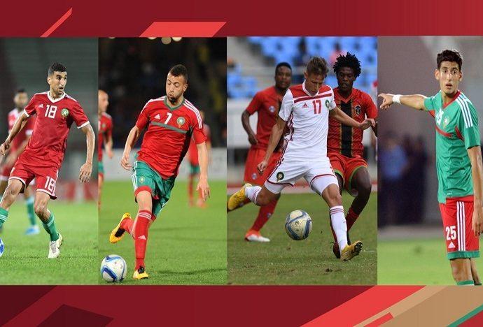 Quatre nouveaux joueurs appelés en renfort par le coach des Lions de l'Atlas