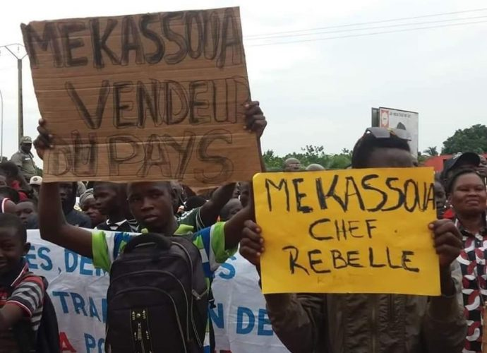 RCA: Grande manifestation à Bangui contre le député Abdoul Karim Meckassoua