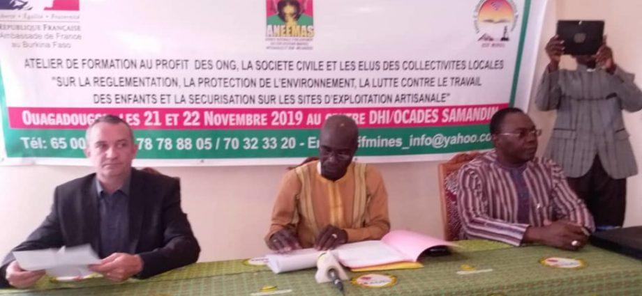 Exploitation minière artisanale au Burkina : ANEEMAS outille une cinquantaine de personnes