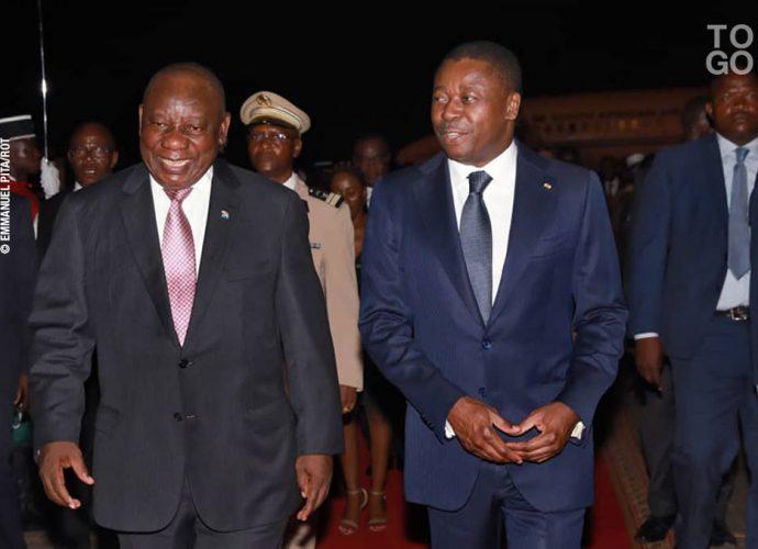 Ramaphosa est arrivé à Lomé