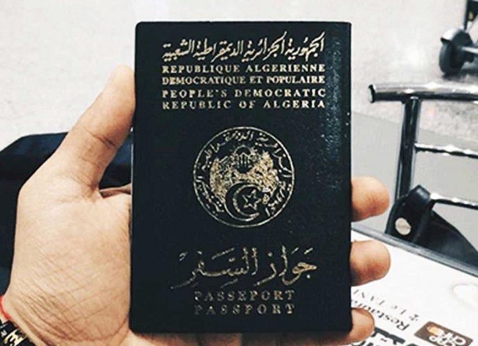 Le passeport algérien 15eme pire passeport au monde