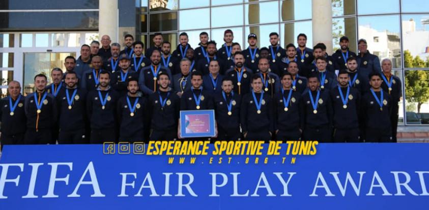 Afrique L'Espérance Sportive de Tunis reçoit le prix Fair-play de la FIFA