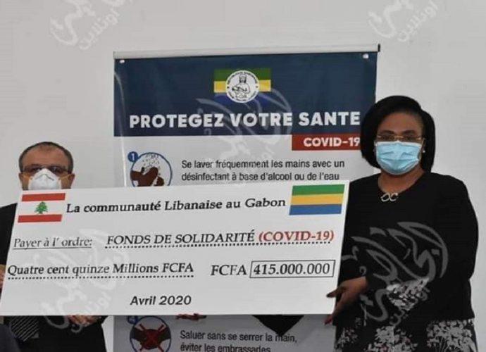 Gabon / Coronavirus : La communauté Libanaise offre plus de 500 millions de FCFA