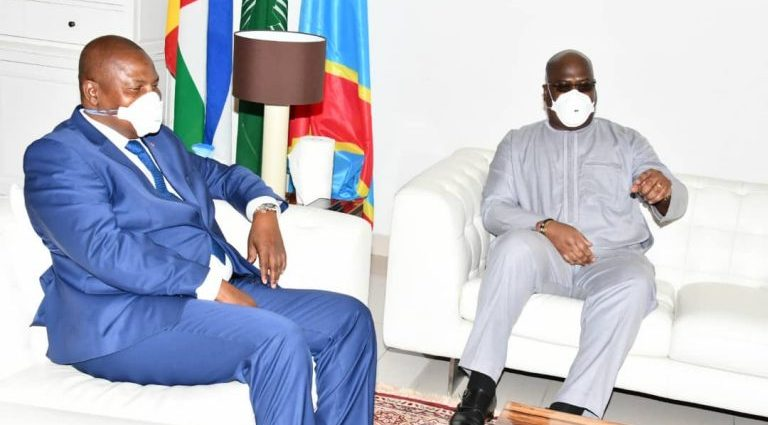 RDC : Félix Tshisekedi en tête-à-tête avec son homologue centrafricain Tuedera à Kinshasa