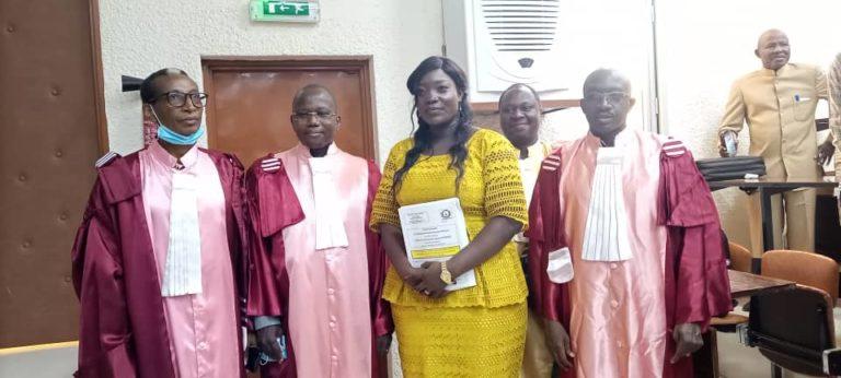 Université Joseph Ki-Zerbo : Estelle Nassouri/Koné, docteur en mathématiques