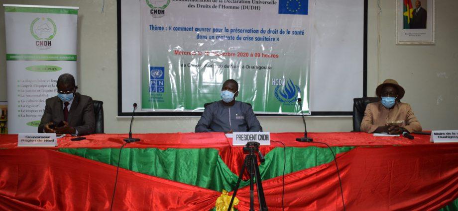 Covid-19 au Burkina : La CNDH pour le respect des droits de l'homme dans les mesures de riposte