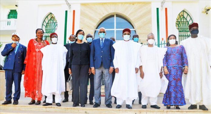 Elections 2020 au Niger : Y. Tsegan, porte-parole des Missions d`observation électorale chez le Président Issoufou