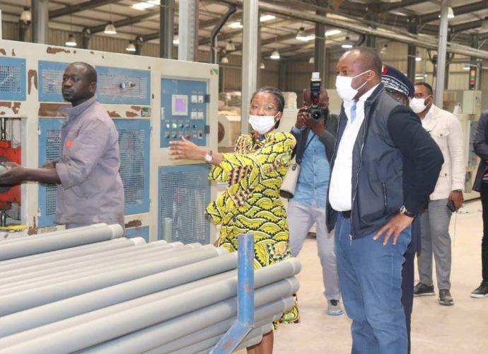 Congo/Infrastructures : D. Christel Sassou-N'Guesso s'imprègne de la matérialisation du parc industriel de Maloukou